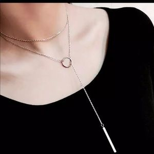 Silver Loop through necklace